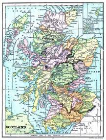 Instant art printable map of scotland the graphics fairy