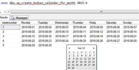 Tsql Create Table by Create Calendar Table In Sql Server Calendar