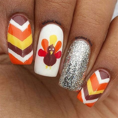 cute and easy thanksgiving nail designs 15 best turkey nail art designs ideas amp trends 2015