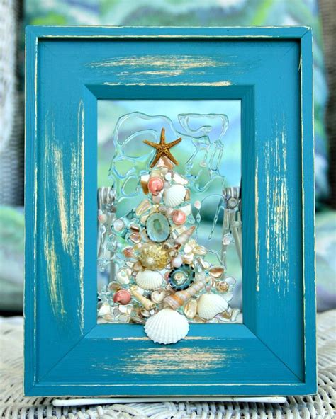 christmas themed drawing sea glass art for holiday decor christmas in july