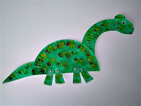 Paper Dinosaur Craft - and craft for with paper plates new calendar