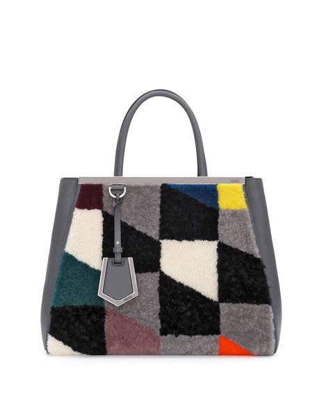 Fendi Shearling Shopping Chef Bag by Fendi 2jours Shearling Tote Bag Gray