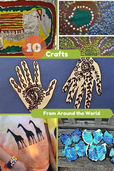 cultural crafts for 10 crafts from around the world in the playroom