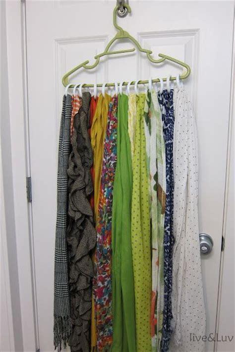 shower curtain organizer cheap scarf organizer take any sturdy hanger and add