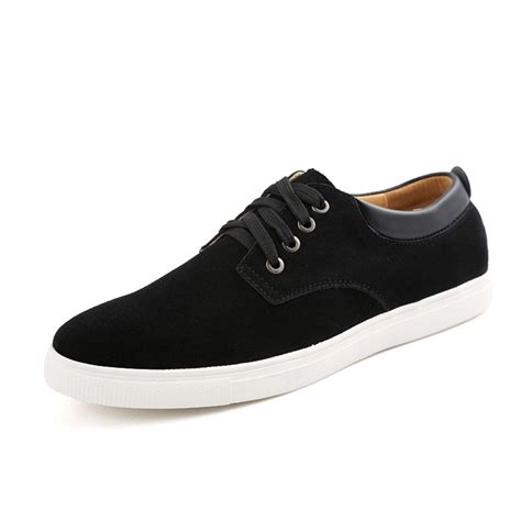 comfortable everyday shoes men s suede leather comfortable casual shoes big size male
