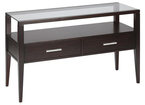 Sofa Table With Drawers Contemporary Sofa Table With Two Drawers By Magnussen Home Wolf And Gardiner Wolf Furniture