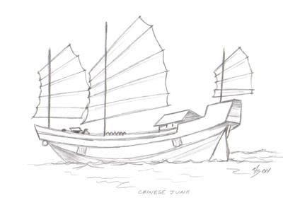 junk boat drawing chinese junk boats chinese junk chinese junk boats in