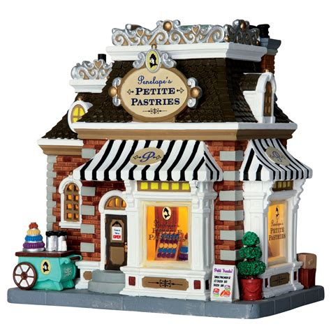 lemax village building collection pastry shop lighted