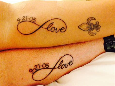 infinity couple tattoo our couples infinity with anniversary date things