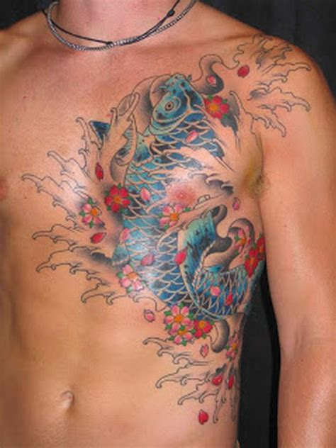 koi fish chest tattoo koi fish tattoo arm chest 1000 geometric tattoos ideas