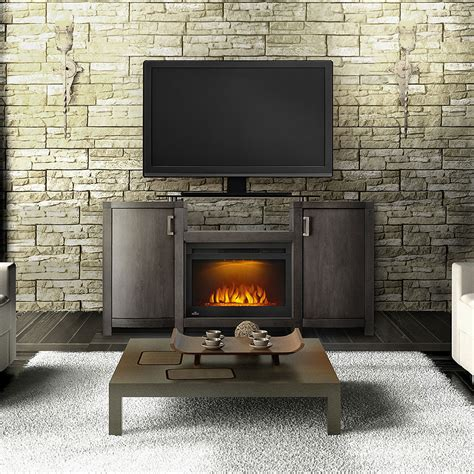 grey electric fireplace electric fireplace tv stand in grey wash finish