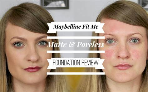 Maybelline Fit Me Matte Poreless Foundation Review maybelline fit me matte and poreless review talonted