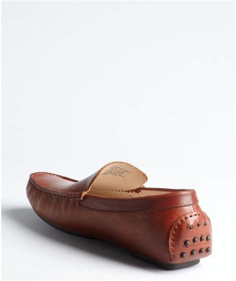 kenneth cole mens loafers kenneth cole cognac leather sports car slip on loafers
