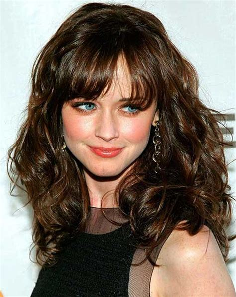 hairstyles curly hair bangs 30 best curly hair with bangs hairstyles haircuts 2016
