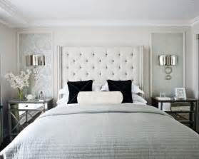 Decorating bedroom gray white silver mirrored nightstands elizabeth