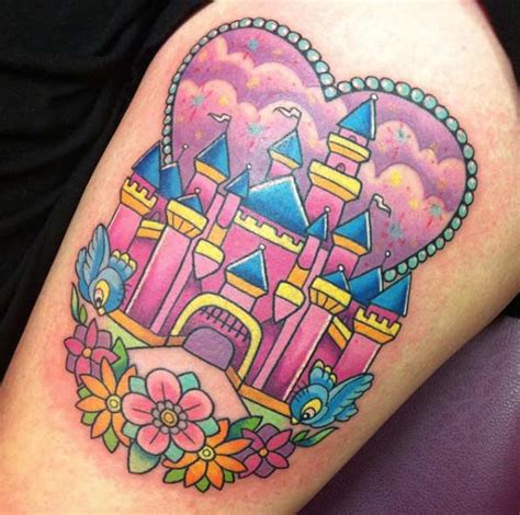 disney castle tattoos designs 33 exquisite disney castle designs tattooblend