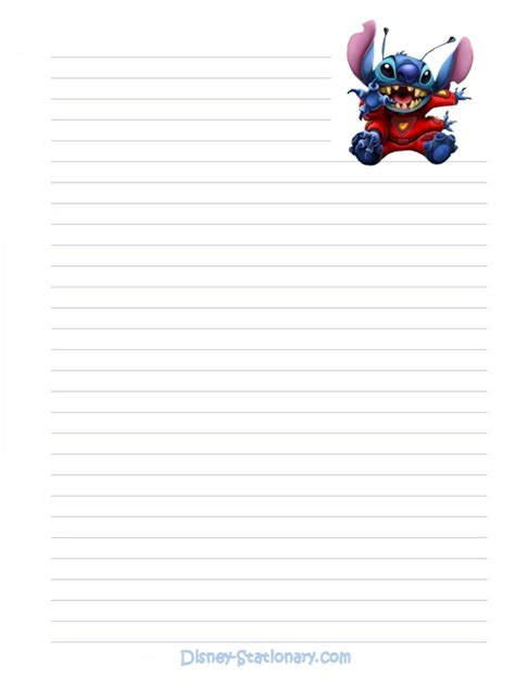 printable disney stationary http disney stationary com stationary lilo stitch stitch