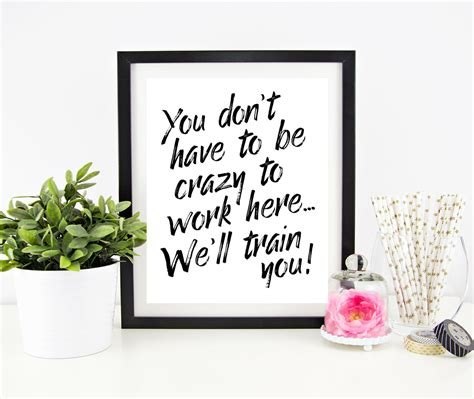 printable funny office quotes fun office wall decor photo image is loading