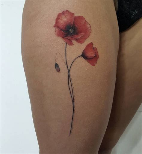 poppy tattoos a volte un po di tattoos on