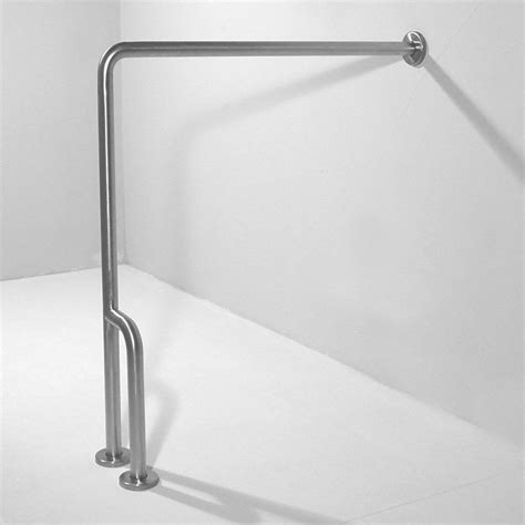 floor mounted grab bars for bathrooms shop ponte giulio usa satin steel floor mounted grab bar
