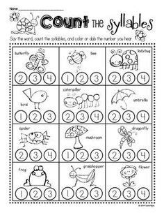 Free Syllable Worksheets For Kindergarten by Syllable On Syllables Kindergarten