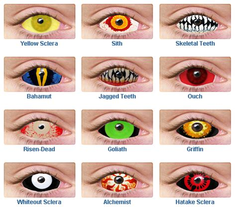 ghost lounge: creepy halloween contact lenses and teeth to