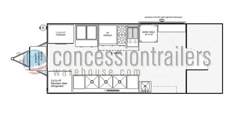 concession trailer floor plans advanced concession trailers food trailer plans