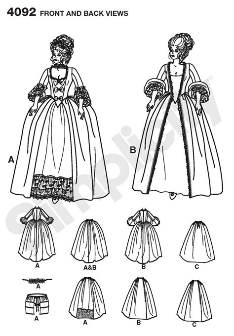 Ee  Simplicity Ee   Pattern Misses Th Centurystume Gowns