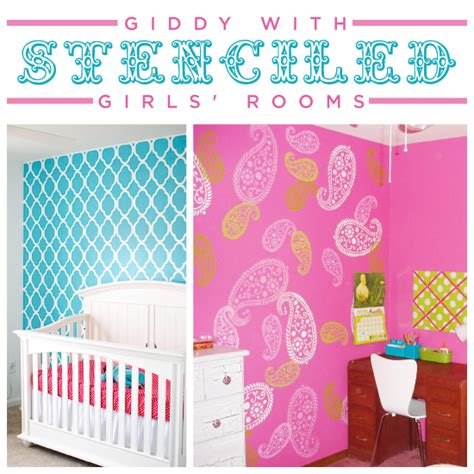 room stencils designs giddy with stenciled girls rooms 171 stencil stories