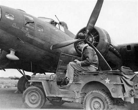 ww2 jeep front 1944 usaaf photo of pilot in front of b 17 on ebay ewillys
