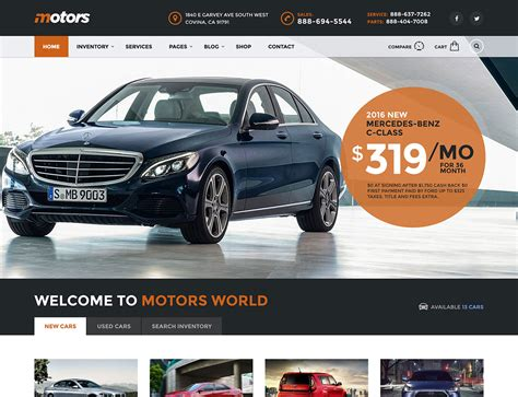 themes new car 15 best car dealer wordpress themes 2018 athemes
