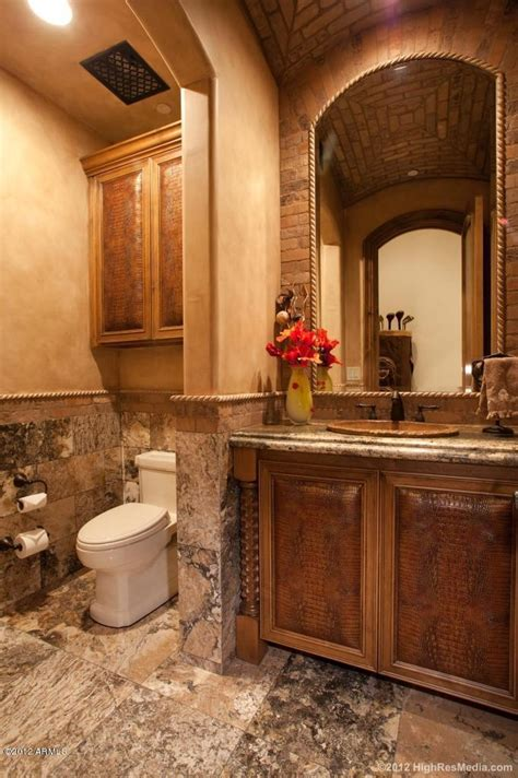 Tuscan Bathroom Ideas by Magnificent Tuscan Style Mansion In Scottsdale Arizona