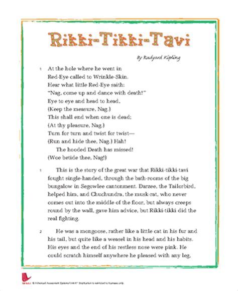 Rikki Tikki Tavi Response To Literature Essay by Rikki Tikki Tavi Essay Questions