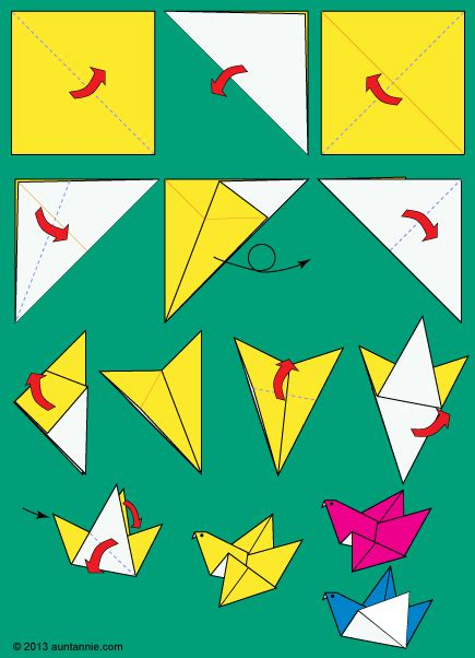 How To Do A Bird Origami - how to make origami flying birds friday