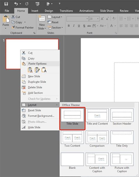 yahoo layout change 2016 change slide layout in powerpoint 2016 for windows