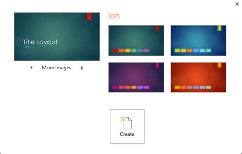 powerpoint design variants shows theme color variation options in powerpoint