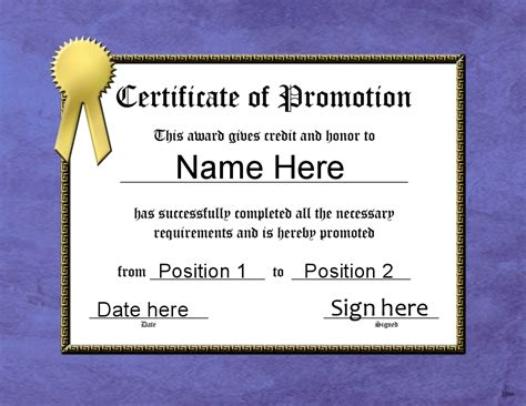 officer promotion certificate template army officer promotion certificate related keywords army