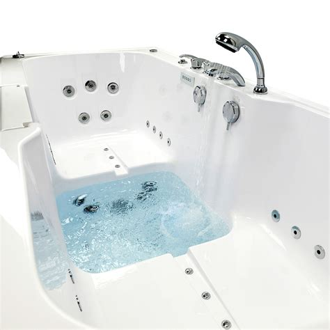 walk in tub big4two two seat acrylic outward swing walk in bathtub with independently operated foot