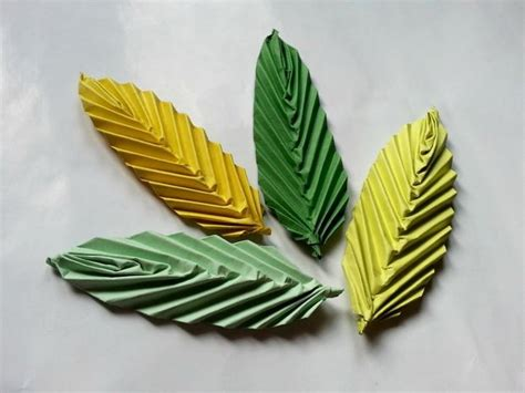 Origami Leaf - diy origami leaf papercraft pictures of and
