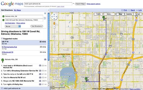 printable route planner usa google maps mapquest driving directions compared