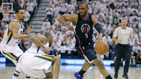 chris paul bench press chris paul bench press clippers beat jazz to force game 7