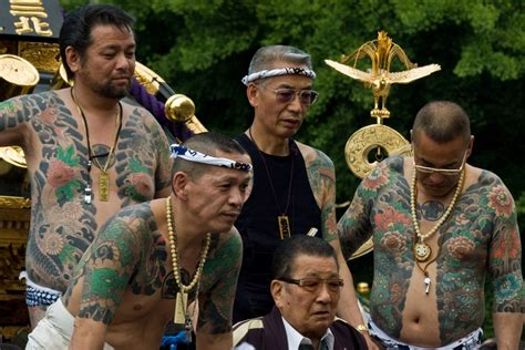 yakuza tattoo festival 70 of mikoshi groups in sanja matsuri controlled by