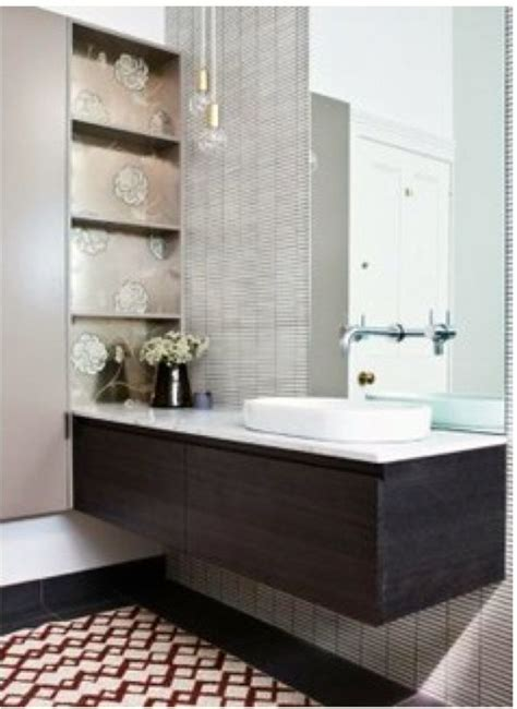Storage in nib wall   VDP Bathroom   Pinterest