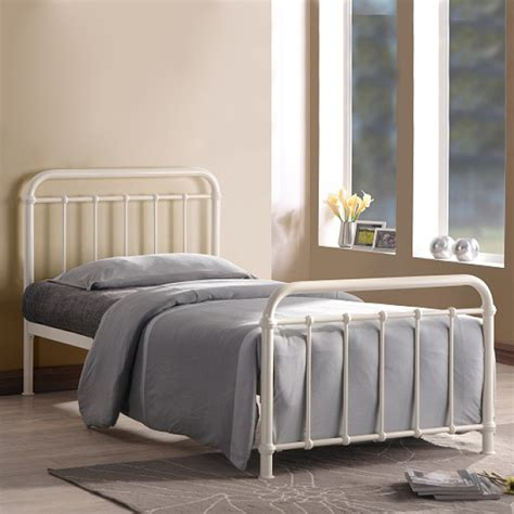 bed frames miami modish time living miami ivory metal bed frame