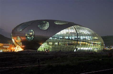 Hafeez Contractor Infosys Pune   Exterior at Night   Pune