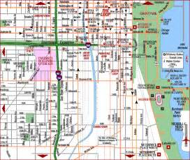 Chicago Streets Map by Similiar Map Of Downtown Chicago Area Keywords