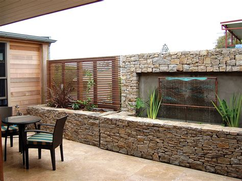 Indoor Garden Architecture Captivating Outdoor Idea With Stone Outdoor Accent Wall