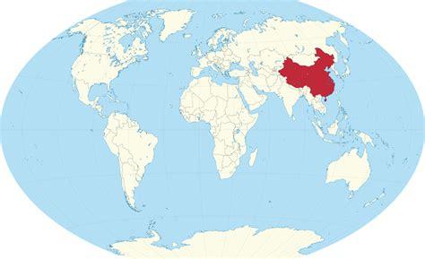china world map china on the world map