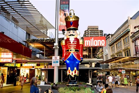 Charming Christmas Street Decorations #1: Christmas-nutcracker-giant-ornament-Brisbane-CBD-Queen-Street-Mall.jpg