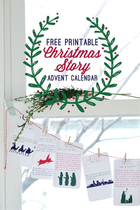 free printable nativity advent calendar pinterest the world s catalog of ideas